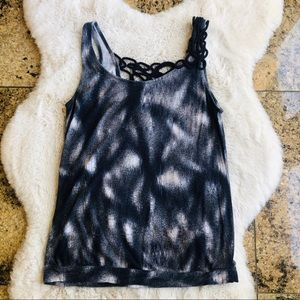 Anthropologie Embroidered Tank Top Small